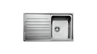 (FR41) 1 X Teka Stainless Steel Sink. 190 mm Chamber Depth Single Chamber With Dropper Micro Linen