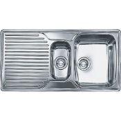 NEW (FR23) 2 X Franke Inset Kitchen Sink Ariane Arx 651p Lh Stainless Steel. Cabinet Size 600.00