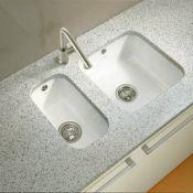 NEW (FR4) 3 X Villeroy & Boch CISTERNA 26 Undermount Kitchen Sink - Ceramic. RRP £231.00. Single