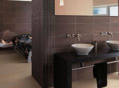 NEW 11.88 Square Meters of Veinstone Lapatto Brown Matt Wall and Floor Tiles. 300x600mm, 1.08m2