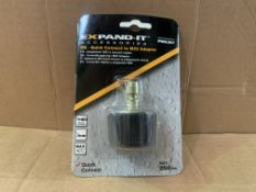 100 X BRAND NEW EXPAND IT PWA307 QUICK CONNECT TO M22 PRESSURE WASHER ADAPTOR MAX 250 BAR