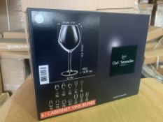 11 X BRAND NEW PACKS OF 6 CHEF AND SOMMELLIER 47CL CABERNET GLASSES