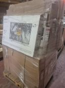 (J185) PALLET TO CONTAIN 12 X VARIOUS CUSTOMER RETURNED TVS TO INCLUDE LG ETC. UNCHECKED STOCK