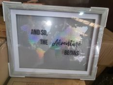(J3) PALLET TO CONTAIN 80 x NEW PACKLAGED ARTHOUSE HOLOGRAPHIC WORLD MAPS. RRP £25 EACH