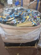(J5) PALLET TO CONTAIN A LARGE QTY OF VARIOUS PHONE CASES, CDS, SETS & MUCH MORE. ORIGINAL PALLET
