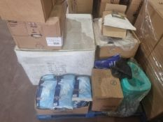 (J16) PALLET TO CONTAIN A LARGE QTY OF VARIOUS ITEMS TO INCLUDE QTY OF POTTYS, TENA PADS, TORK
