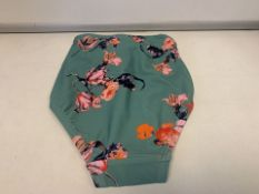 15 X BRAND NEW INDIVUDUALLY PACKAGED PIECES GREEN FLOWER PCYNYNNE BIKINI BRIEFS IN VARIOUS SIZES (