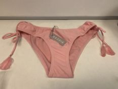 10 X BRAND NEW INDIVIDUALLY PACKAGED PIECES PCNIA CANDY PINK BIKINI BRIEFS IN VARIOUS SIZES (148/1)