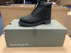 (NO VAT) 2 X BRAND NEW TIMBERLANDS BLACK NUBUCK BOOTS SIZE J1