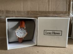 5 X BRAND NEW LUKE HENRY BROWN STRAPPED 32MM WATCH RRP £99 EACH (355/8)