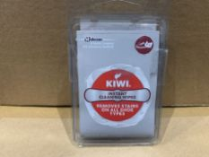 360 X NEW PACKS OF 4 KIWI INSTANT CLEANING WIPES - REMOVES STAINS ON ALL SHOE TYPES (141/8)