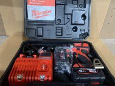 Milwaukee M18FPD-402B Percussion Combi Drill 18V 2 x 4.0Ah Li-ion Batteries. WITH 2 X BATTERIES,