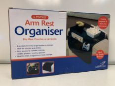 20 X NEW BOXED FALCON 6 POCKET ARM REST ORGANISERS. FITS MOST COUSES & ARMRESTS (425/8)