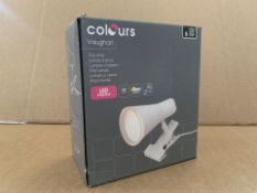 21 X BRAND NEW COLOURS VAUGHAN CLIP LAMPS (765/8)