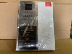 20 X BRAND NEW NORWOOD READY MADE BLACKOUT LININGS IN VARIOUS STYLES AND SIZES (911/8)