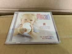 400 X BRAND NEW MOZART FOR CHILDREN TO CALM AND SMOOTH DVD IN 4 BOXES (525/8)