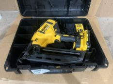 DEWALT DCN692N 18V XR 2 SPEED NAIL GUN WITH CARRY CASE, BATTERY & CHARGER. UNCHECKED