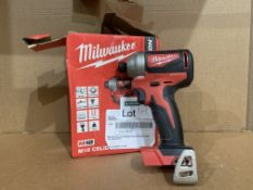 MILWAUKEE M18 CBLID-O COMPACT BRUSHLESS IMPACT DRIVER BARE. BOXED. UNCHECKED
