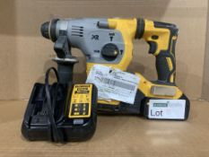 DeWalt XR Brushless SDS Plus Hammer 18V DCH283N-XJ. WITH BATTERY & CHARGER. UNCHECKED