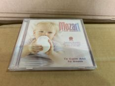 400 X BRAND NEW MOZART FOR CHILDREN TO CALM AND SMOOTH DVD IN 4 BOXES (526/8)