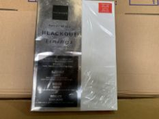 20 X BRAND NEW NORWOOD READY MADE BLACKOUT LININGS IN VARIOUS STYLES AND SIZES (518/8)
