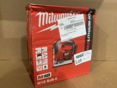MILWAUKEE M18BJSO CORDLESS JIGSAW. BOXED. UNCHECKED
