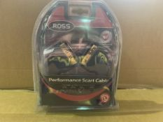 21 X BRAND NEW ROSS PERFORMANCE SCART CABLES (1000/8)
