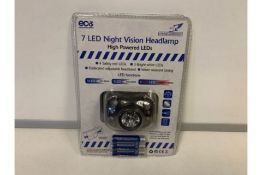 36 X NEW PACKAGED FALCON 7 LED NIGHT VISION HEADLAMPS (1498/8)
