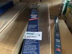 75 X BRAND NEW BLUECOL TWIN PACK FRONT WIPER BLADES IN 3 BOXES (1332/8)
