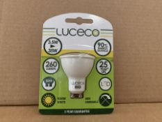 50 X BRAND NEW LUCECO 260 LUMEN 3.5W (35W) HU10 LIGHTBULBS (755/8)