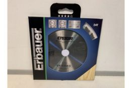 12 X NEW PACKAGED ERBAUER 24T 165MM TCT WOOD CUTTING DISKS (1525/8)