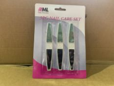 144 X BRAND NEW 3 PIECE NAIL CARE SETS (1049/8)