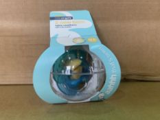 60 x NEW PACKAGED LITTLE ANGELS PACKS OF 2 NEW BORN LATEX SOOTHERS WITH SOFT SHEILDS & CARRY CASE.