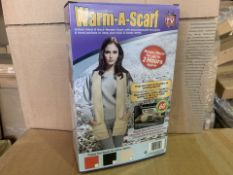 24 X BRAND NEW AS SEEN ON TV WARM-A-SCARF (95/8)