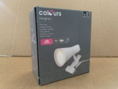 21 X BRAND NEW COLOURS VAUGHAN CLIP LAMPS (763/8)