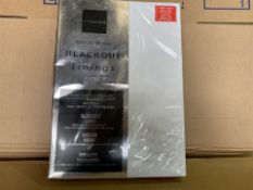 20 X BRAND NEW NORWOOD READY MADE BLACKOUT LININGS IN VARIOUS STYLES AND SIZES (517/8)