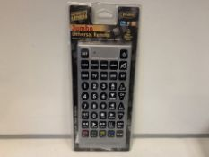20 X NEW PACKAGED ENZO JUMBO UNIVERSAL REMOTE CONTROLS (215/8)