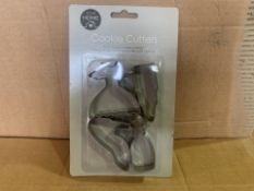 144 X BRAND NEW COOKIE CUTTER SETS IN 4 BOXES (92/8)