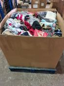 (Y6) PALLET TO CONTAIN A LARGE QTY OF VARIOUS CLOTHING ITEMS, BABY GOODS TO INCLUDE T-SHIRTS,
