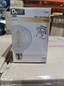 PALLET TO CONTAIN 320 x NEW BOXED DIALL LED E27 FITTING LIGHT BULBS. 75W. 100%Lm. RRP £9.97 EACH