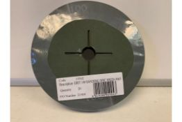 40 X BRAND NEW PACKS OF 20 GRIT 100 SANDING DISCS IN 4 BOXES