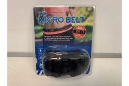 30 X NEW PACKAGED 'THE MICRO BELTS' THE HANDY CARRY-BELT CAN BE EXPANDED TO HOLD ANY SIZE