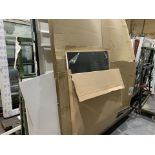 DOUBLE SIDED ACRA A FRAME WINDOW TROLLEY WITH WHEELS 245L X 170H X 120 WITH CONTENTS INCLUDING 5