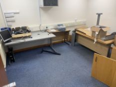 CONTENTS OF OFFICE INCLUDING PITNEY BOWES POSTAGE PHONE, OFFICE DESKS, FILING CABINETS, MONITOR,