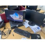 DELL PC WITH PHILLIPS MONITOR X 2 AND DELL KEYBOARD AND MOUSE AND YEO LINK PHONE (5)