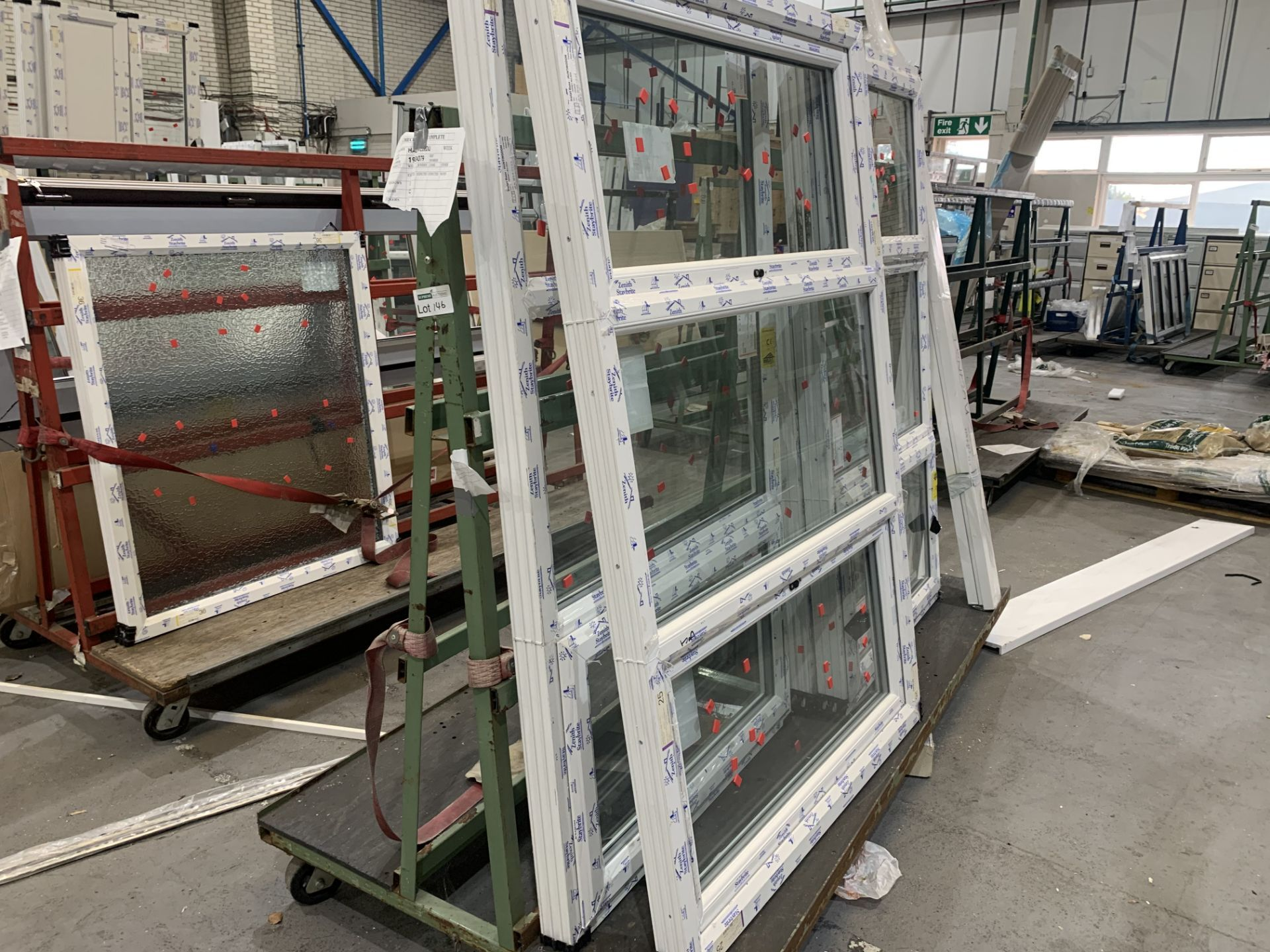 DOUBLE SIDED ACRA A FRAME WINDOW TROLLEY WITH WHEELS 245L X 170H X 120 WITH CONTENTS INCLUDING 4 - Image 2 of 2