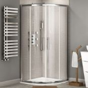 (SUP18) New 900x900mm 2 Door Quadrant Shower Enclosure. RRP £408.99.Constructed Of 6mm Lightweight