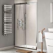 (SUP15) New 1100mm - 8mm - Designer EasyClean Sliding Shower Door. RRP £429.99.8mm EasyClean glass -