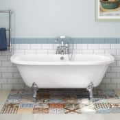 (SUP25) New 1700mm Victoria Back To Wall Traditional Roll Top Bath. RRP £999.99. This stunning