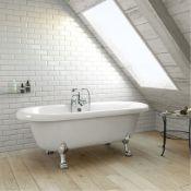 (SUP26) New 1690mm Cambridge Traditional Roll Top Bath - Chrome Feet. RRP £999.99. Showcasing